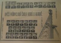 Vyššia priemyselná škola v Kladne, kde pamätník študoval po vojne