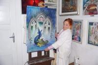 Dagmar Renertová s jednou ze svých tapisérií