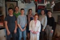 Dagmar Renertová s dokumentaristickým týmem ze ZŠ Řevnice