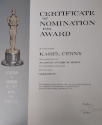 Potvrzení nominace na Oscara