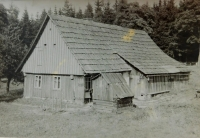 The house in Nesytá village where the family was evicted. The picture was taken in 1953
