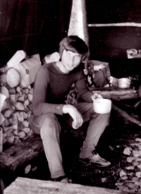 Jiří Zajíc camping; ca. 1975