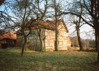 A house where the witness had been born, prior to her emigration to the Western Germany