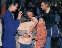 Rozloučení s panem velvyslancem H. Huberem po odchodu z Velvyslanectví Spolkové republiky Německo v Praze dne 30. září 1989.