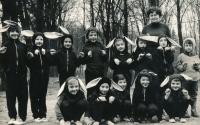 Jan Slezák (zcela vlevo dole), cca 1968