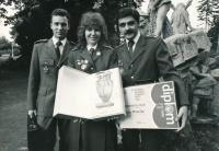 Jan Slezák (vpravo), září 1989