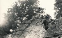 Jan Slezák při výcviku, cca 1986 - 87
