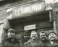 Jiří Zajíc (second from the left), ca. 1963-64