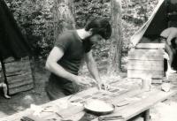 Jiří Zajíc camping; the 80s