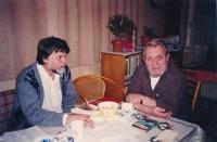 Jiří Zajíc (on the left) with Erazim Kohák, a philosopher; 2000
