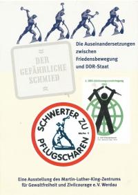 Meče na pluhy! Emblém opozičního hnutí v NDR