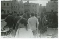 Pochod Havlíčkovy mládeže / 29. července 1989 / archiv D. Šidláka