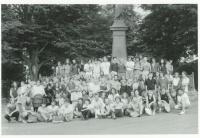 Pochod Havlíčkovy mládeže, hromadné foto / 29. července 1989, Havlíčkova Borová / archiv D. Šidláka