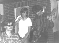 Hudební začátky Pavla Šimona (uprostřed) / archiv Pavla Šimona