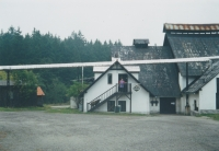 Libuše Trpišovská in front of the restaurant in 1990s