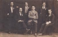 Vojenský odvod, Karel Kohoutek první vlevo