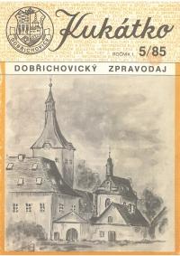 Titulka časopisu Dobřichovické kukátko, které začal Vladimír Czumalo v úzkém okruhu příznivců vydávat v roce 1985