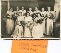 Svadba pamätníčky, 1949