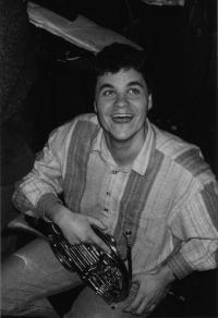 Markus Rindt s nástrojem
