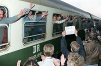 Příjezd na Západ 1989 (Markus Rindt v okně)