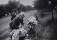 Českomoravskou vysočinou, výlet s dětmi, 1979
