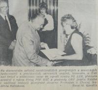 Slavnostní setkání funkcionářů PO, Jiskra Orlicka 16. května 1989
