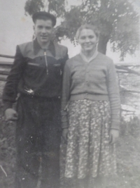 With Leonid, her brother