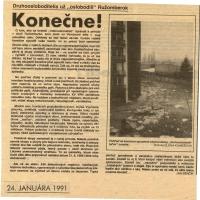 Dobový článok pamätníka v časopise Ružomberský hlas.