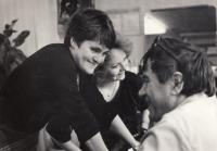 Marie s režisérem Václavem Beránkem a Evou Patočkovou