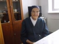 Sr. Nonnata Mária Vrbová v kláštore v Belušských slatinách, 89 rokov, 2019