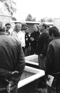 Během konference v Třeboni (1984)