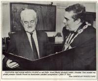K. Hrubý se stal v roce 1995 čestným občanem města Plzně