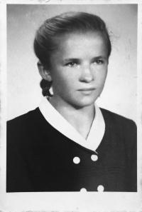 Pamätníčka počas štúdia v Nitre vo veku necelých 17 rokov