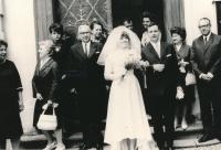 Svatba Tomislava a Táni Vašíčkových, rok 1967