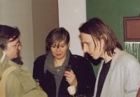 Daniel Balabán s kunsthistoriky Janou a Jiřím Ševčíkovými - Praha, 1993