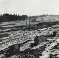 Leden 1961 - zakládání kravína JZD v Rychnově