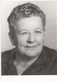 Matka pamětnice Marie Liškové  v únoru 1973