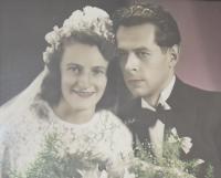 Naděžda a Josef Haláskovi, svatba 1949