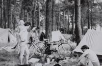 Nocleh u Colbitz, cyklovýlet do NDR, červenec 1967