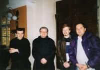 Pamětník s Františkem Jindřichem Holečkem, počátek 90. let