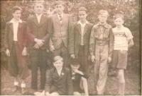 Kurt Kempe na setkání postoloprtských rodáků v Lichtenfelsu (zcela vlevo), 1947