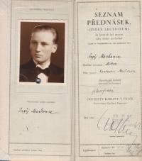 Sergejovo studium na FFUK bylo přerušenou válkou. V roce 1939 byl odveden do koncentračního tábora v Sachsenhausenu.