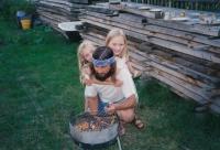 S dcerami Martinou a (vpravo) Lucií