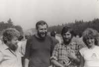 West Bohemia Nature Conservation correspondent meeting; Stanislav Duchek is the second from the left; 1987