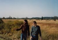 In Adrennes, Belguim with Jiří Ruml, October 1989