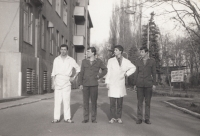 During the military service; Stanislav Duchek is the second from the left. 1982