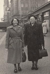 His mother with her mother-in-law; mid 1950s