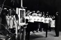 Milan Báchorek with Radhošť choir at the beginning of 1960s