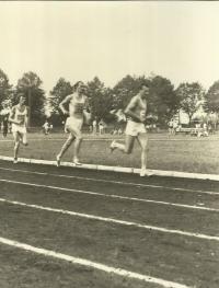 Vladimír Špirk 24. 8. 1974 na Národní lehkoatletické lize v Hradci Králové