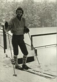Vladimír Špirk v Jizerských horách v roce 1981